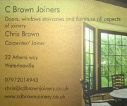 Chris Brown Joinery Ad